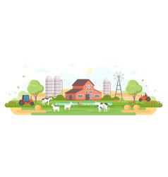 Farm - modern flat design style vector