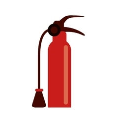 fire extinguisher equipment fire help vector image