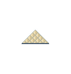 flat icon louvre museum element vector image vector image