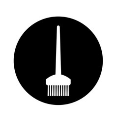 Hairdresser rake comb isolated icon vector