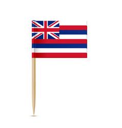 hawaii flag toothpick vector image vector image