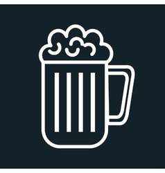 icon beer cold drink design vector image vector image