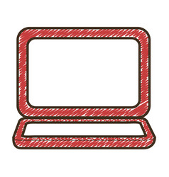 laptop computer icon vector image vector image