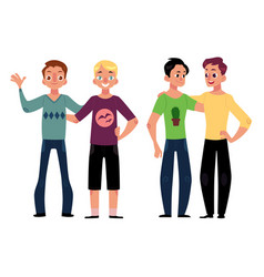 male friendship concept two couple of boys men vector image vector image
