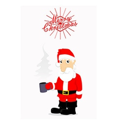 Merry Christmas card with Santa vector image vector image