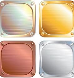 metallic panels vector image vector image