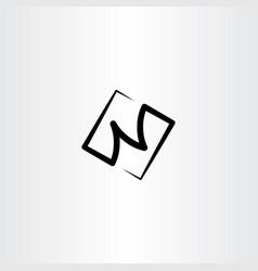 N black logo letter icon symbol vector