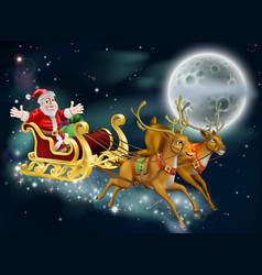 Santa and sleigh vector