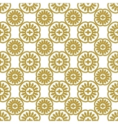 Seamless gold floral pattern vector image