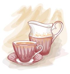 still life vintage cup vector image vector image