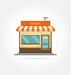 store building vector image