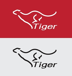 Tiger running vector image vector image
