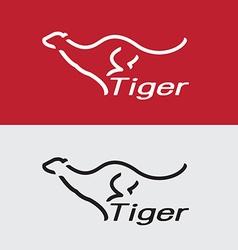 Tiger running vector