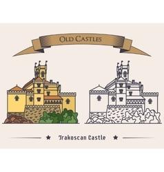 Exterior view on trakoscan old castle vector
