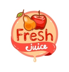 Fresh juice emblem 8 vector