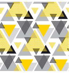 Yellow and black creative repeatable motif with vector