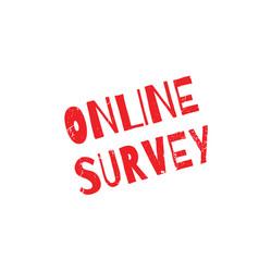 Online survey rubber stamp vector