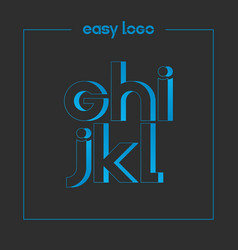 letter g h i j k l logo alphabet icon set vector image