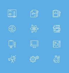 Education and writing line icons collection vector