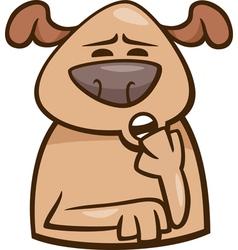 mood sleepy dog cartoon vector image