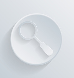 Circle icon with a shadow magnifier vector