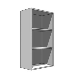3d image - simple isolated cabinet with shelves vector