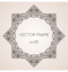 Intricate star floral frame vector