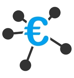 Euro distribution icon vector