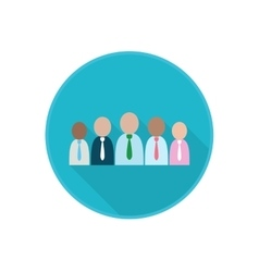 Flat icon with working group of co-workers vector