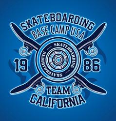 SKATER BASE CAMP vector image