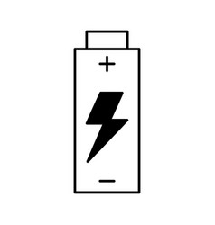 Battery energy isolated icon vector
