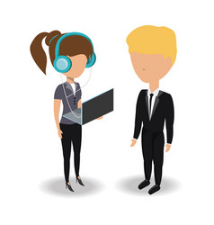 business people design concept vector image