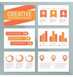 Business presentation template set graph vector
