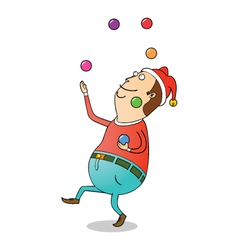 Christmas clown vector image vector image