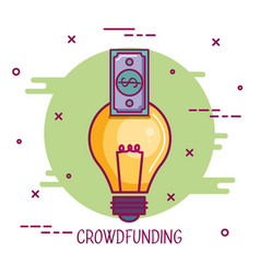 Crowdfunding idea banknote business cooperation vector
