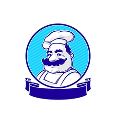 emblem with chef vector image vector image