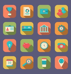 flat icons of web design objects business office vector image