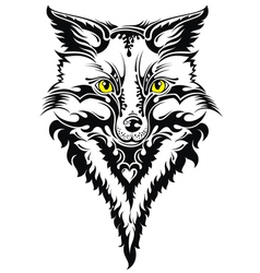 Fox head tattoo vector image