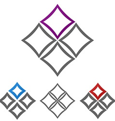 Geometric square logo set vector