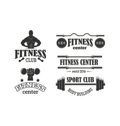Gym sport club fitness emblem vector