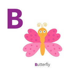 Letter c butterfly insect zoo alphabet english abc vector
