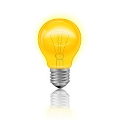 Light Bulb Realistic vector image vector image