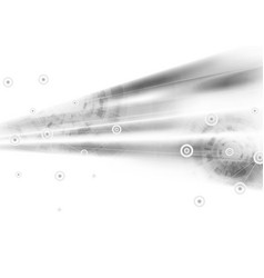 light grey abstract technology background vector image vector image