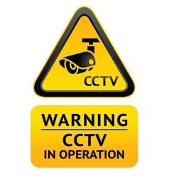 Notice Video Surveillance symbol vector image
