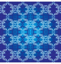 ornamental seamless background classic style in bl vector image