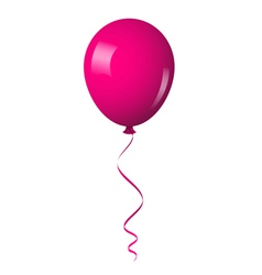 pink shiny balloon vector image vector image