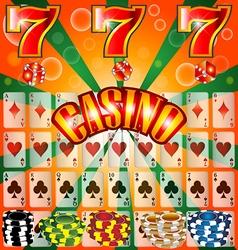 Poker Casino Cards Background Gambling Symbol Play vector image vector image