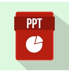 Ppt file icon flat style vector