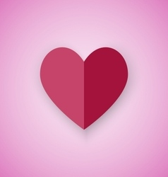 Red heart on pink background vector