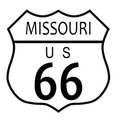 Route 66 missouri vector
